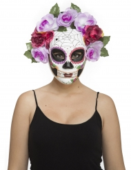 Masque squelette pastel adulte Dia de los muertos