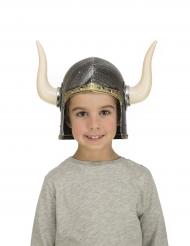 Casque viking avec cornes enfant