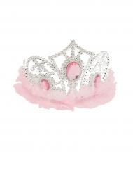 Diadème princesse avec tulle rose