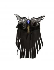 Décoration à suspendre squelette lumineux avec ailes Halloween 120cm