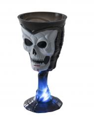 Verre lumineux noirtête de mort Halloween