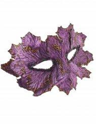 Masque violet avec feuilles pailletées femme