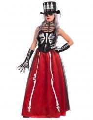 Déguisement squelette élégant Halloween femme