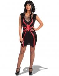 Déguisement sorcière araignée rouge femme Halloween