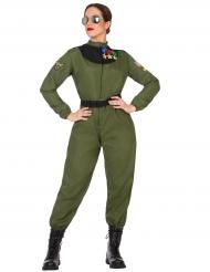 Déguisement aviateur militaire femme