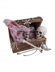 Coffre pirate avec squelette 43 x 23 cm