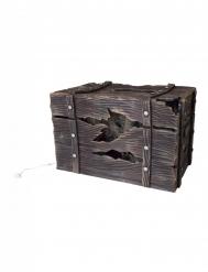 Coffre lumineux et sonore avec créature cachée 46 X 30 cm