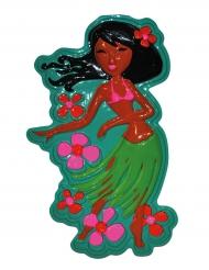 Décoration murale danseuse hawaïenne 55 cm