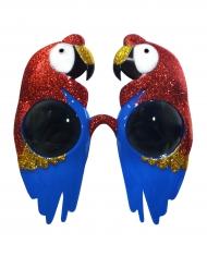Lunettes perroquet paillettées adulte