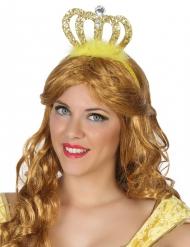 Diadème princesse dorée adulte