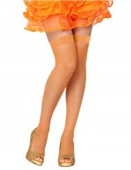 Bas résilles orange femme