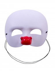 Demi-masque blanc clown enfant