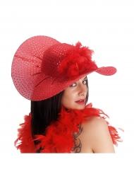 Chapeau élégant rouge femme