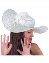 Chapeau élégant blanc femme
