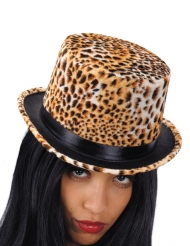 Chapeau haut de forme léopard femme