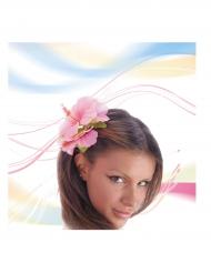 Fleur rose pour cheveux adulte