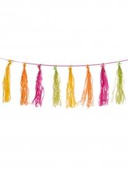 Guirlande tassel multicolores 3m