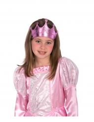 Couronne de princesse rose fille