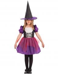 Déguisement sorcière violette fille Halloween