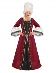 Déguisement baroque bordeaux femme