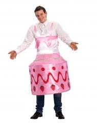 Déguisement gâteau à la fraise adulte
