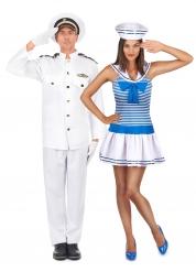 Déguisement de couple marin adulte