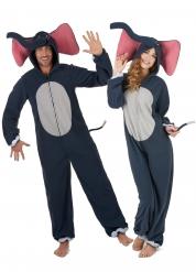Déguisement de couple éléphant adulte