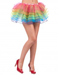 Tutu jupon multicolore adulte