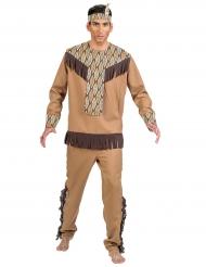 Déguisement indien avec feuilles homme