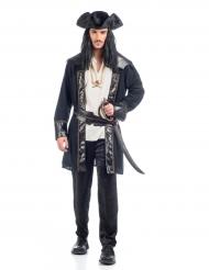 Déguisement pirate noir et blanc homme