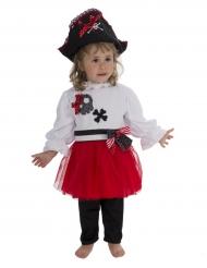 Déguisement pirate rouge et blanc bébé