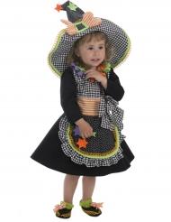 Déguisement petite sorcière multicolore bébé