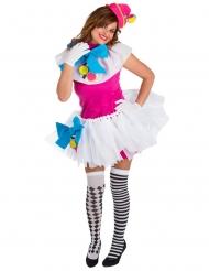 Déguisement clown coloré femme
