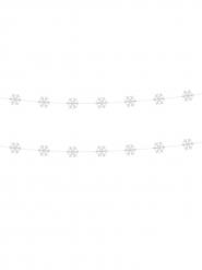 2 Guirlandes flocons blanc 180 cm