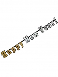 Guirlande bannière holographique Happy New Year 142 cm