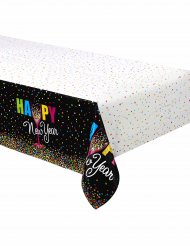 Nappe en plastique Happy new year confettis 137 x 213 cm