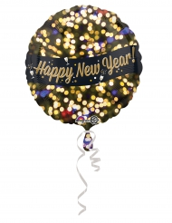 Ballon aluminium happy new year 43 cm