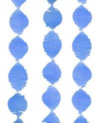 Guirlande à franges en papier bleu 2,74 m