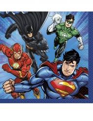 16 Petites serviettes en papier Justice League ™ 25 x 25 cm