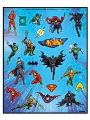 4 Feuilles de stickers Justice League ™