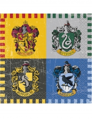 16 Petites serviettes en papier Harry Potter ™ 25 x 25 cm