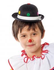 Chapeau clown à pois noir enfant