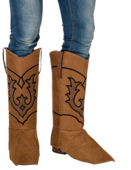 Surbottes cowboy marron adulte