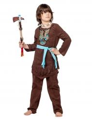 Déguisement indien avec plastron coloré garçon