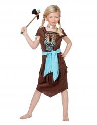 Déguisement indien avec plastron coloré fille