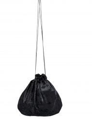 Sacoche velours noir 27 cm
