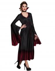 Déguisement vampire noir dégradé rouge femme Halloween