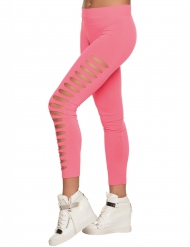 Legging troué rose adulte