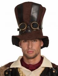 Chapeau haut de forme rayé adulte Steampunk