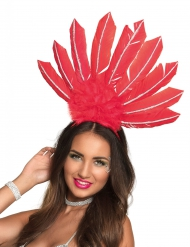 Coiffe brésilienne rouge femme